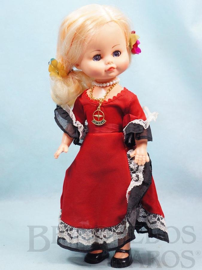 Brinquedo antigo Boneca Verinha 30,00 cm de altura Roupa de Espanhola perfeito estado Completa Ano 1977