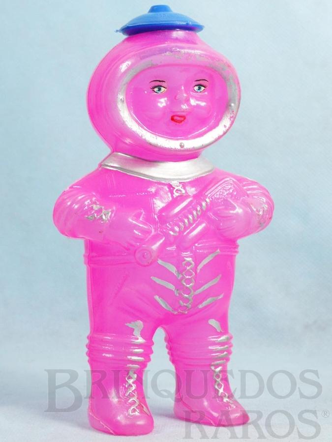 Brinquedo antigo Boneco Astronauta com 18,00 cm de altura Embalagem de doces Década de 1970