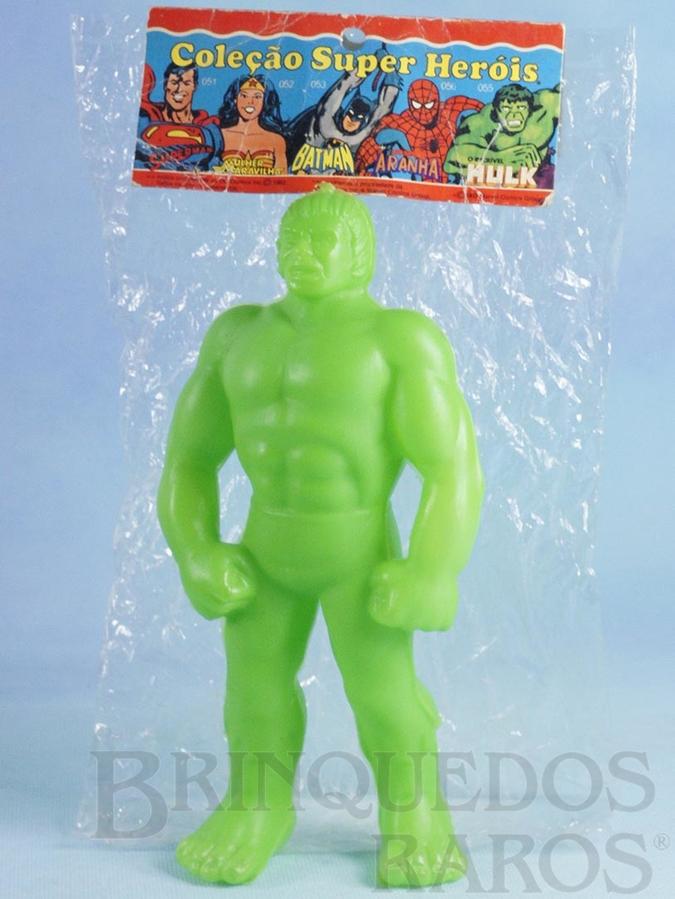 Brinquedo antigo Boneco do Incrível Hulk com 20,00 cm de altura Década de 1980