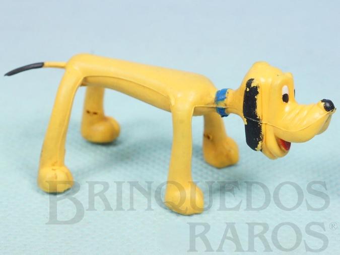 Brinquedo antigo Boneco do Pluto com 7,00 cm de comprimento Coleção Mini Flex Walt Disney Ano 1970