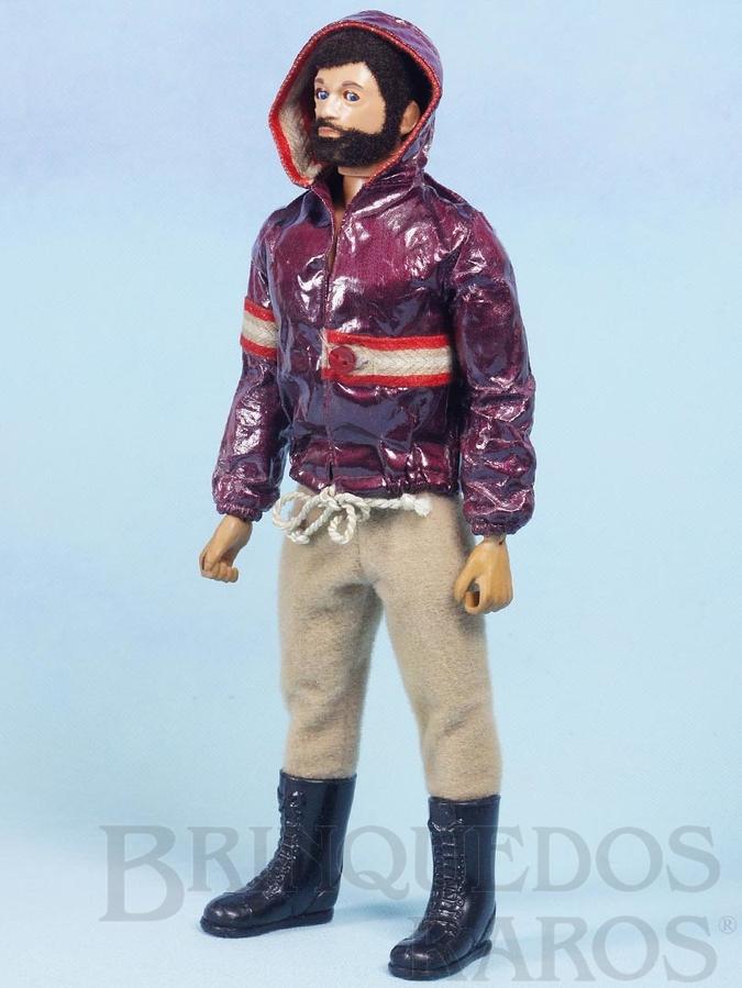 Brinquedo antigo Boneco Falcon Moreno com Barba Série Olhos de Águia  perfeito estado 100% original completo com 3 Itens Ano 1980