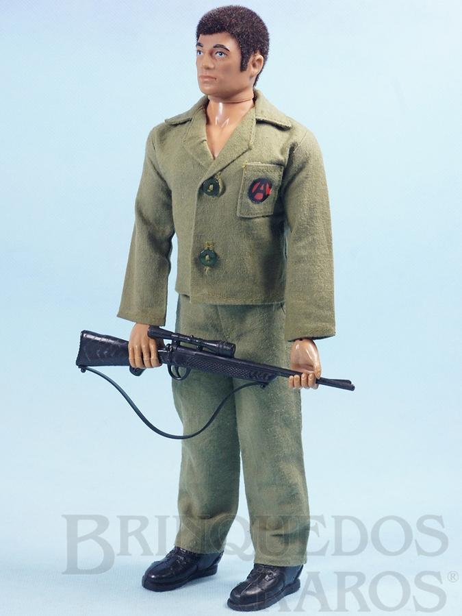 Brinquedo antigo Boneco Falcon moreno sem barba Combate Completo com 4 itens Ano 1978