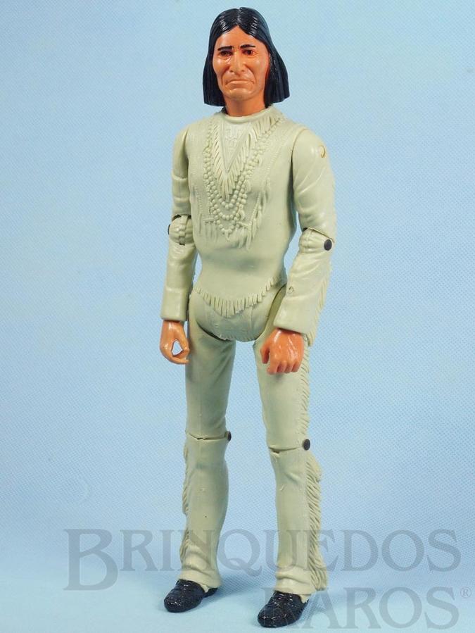 Brinquedo antigo Boneco Índio Geronimo Série Best of the West com 30,00 cm de altura  Ano 1967