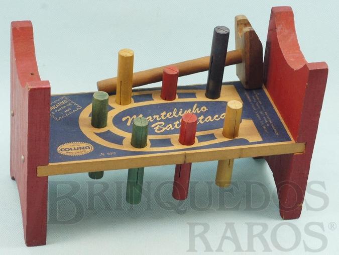 Brinquedo antigo Brinquedo de bater Martelinho Bate Estaca Década de 1970