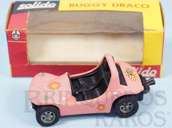 Brinquedo antigo Buggy Draco rosa Fabricada pela Brosol Un Solido fait seulement au Brésil Solido brésilienne Década de 1980