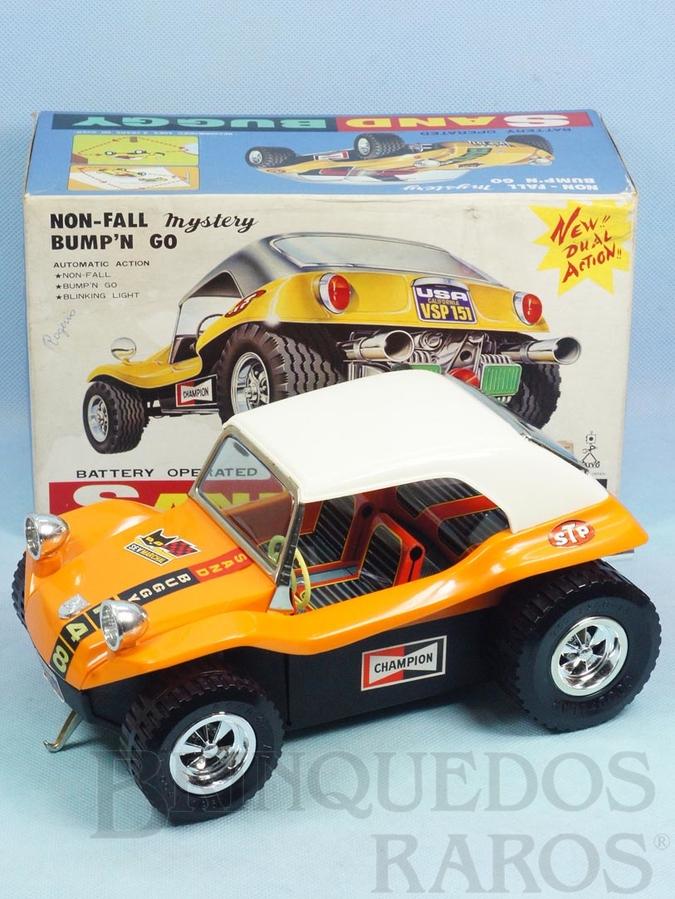 Brinquedo antigo Buggy Sand Buggy com 25,00 cm de comprimento Carroceria de plástico rígido Sistema Não Cai da Mesa  Perfeito estado Década de 1970