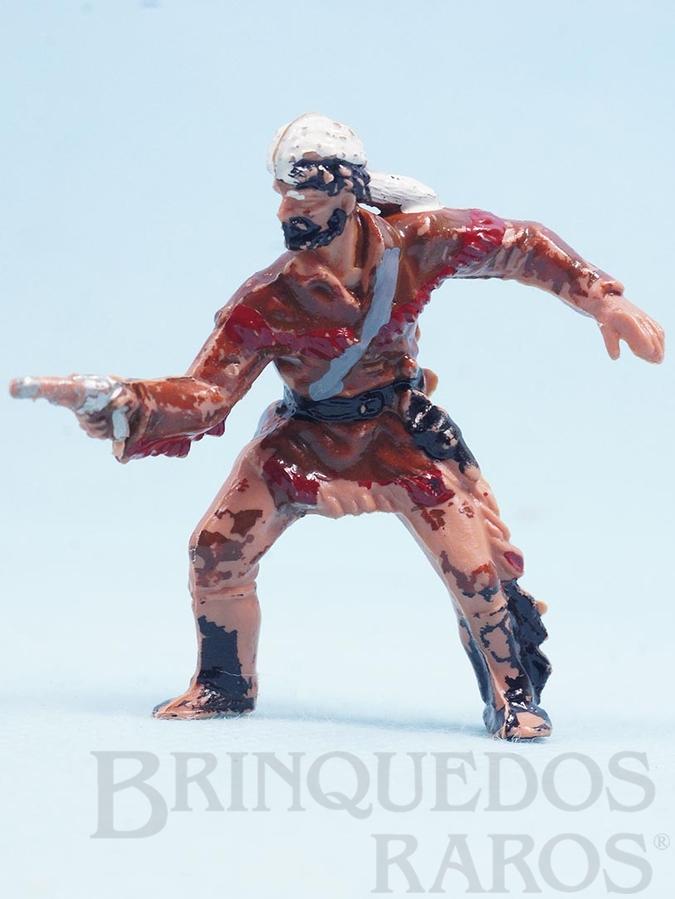 Brinquedo antigo Caçador atirando com revolver Série Planície Selvagem Ano 1973