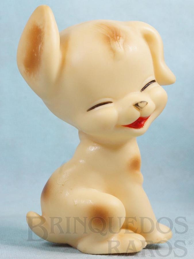 Brinquedo antigo Cachorro Risadinha 14,00 cm de altura com apito Ano 1960