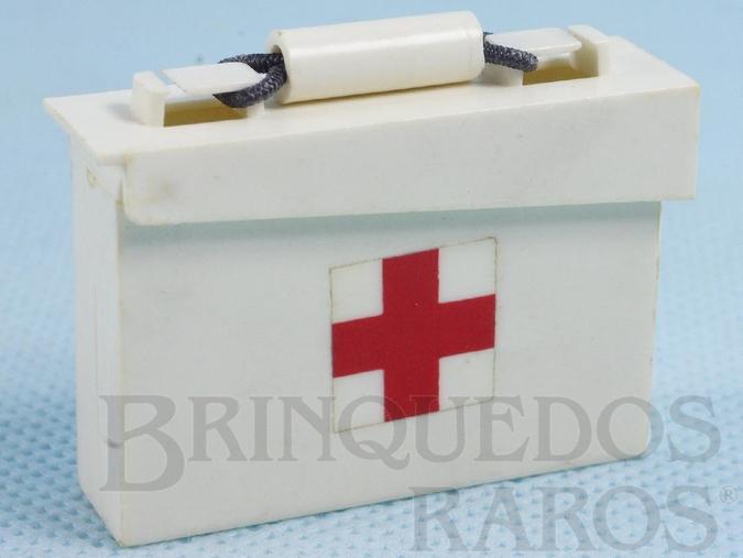 Brinquedo antigo Caixa de medicamentos Aventura S.O.S. Cruz Vermelha Ano 1978