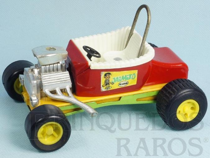 Brinquedo antigo Calhambeque Hot Rod Jaimito com 16,00 cm de comprimento Carroceria de plástico com chassi de aço Década de 1970