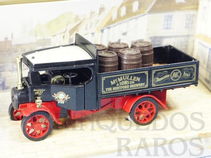Brinquedo antigo Caminhão a vapor 1922 Foden Steam Wagon Yesteryear Cerveja McMullen & Sons