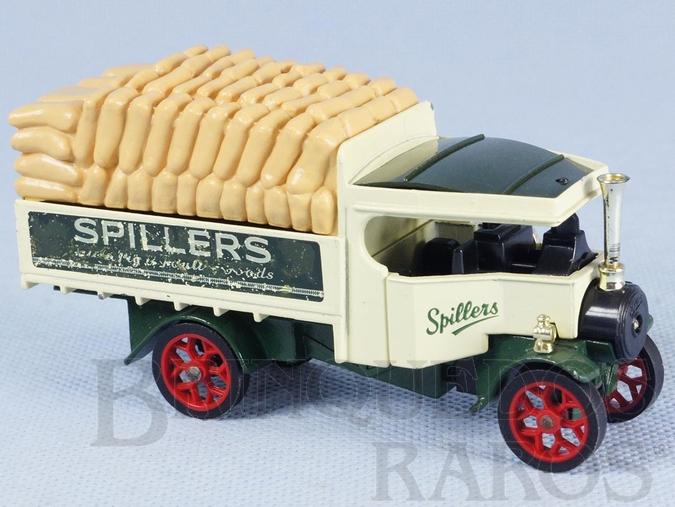 Brinquedo antigo Caminhão a vapor 1922 Foden Steam Wagon Yesteryear Spillers Década de 1980
