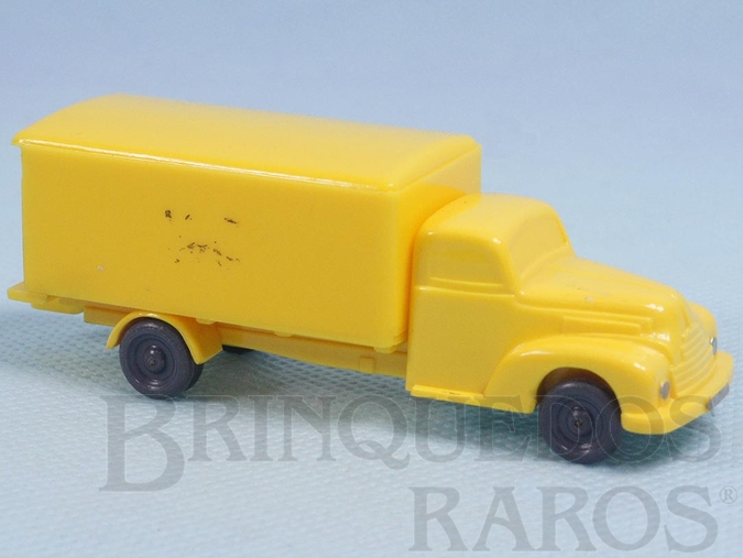 Brinquedo antigo Caminhão Baú do Correio Alemão Janelas sólidas Década de 1950