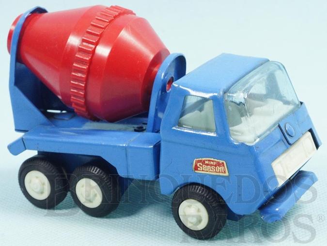 Brinquedo antigo Caminhão Betoneira com 13,00 cm de comprimento Série Mini Sanson Década de 1970