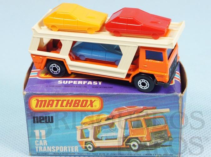 Brinquedo antigo Caminhão Cegonha Bedford Car Transporter Superfast