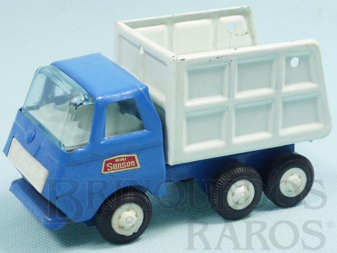 Brinquedo antigo Caminhão com 13,00 cm de comprimento Série Mini Sanson Década de 1970