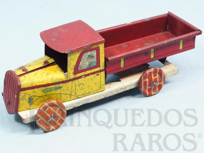 Brinquedo antigo Caminhão Entregas Rápidas com 19,00 cm de comprimento Década de 1930