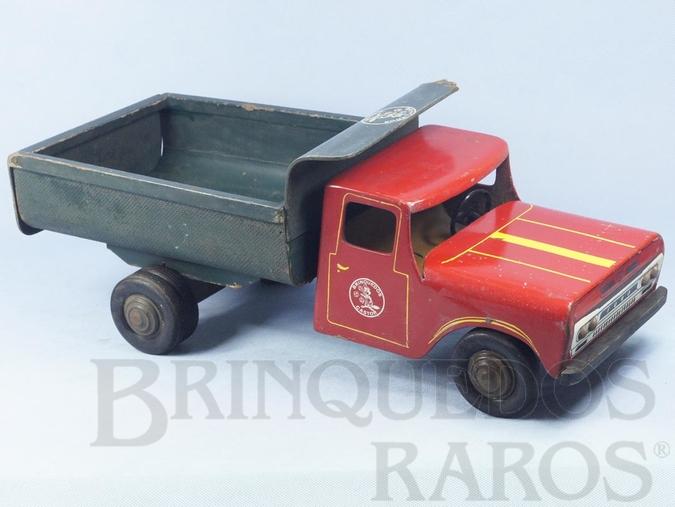 Brinquedo antigo Caminhão Basculante Ford F600 1963 com 48,00 cm de comprimento Década de 1960