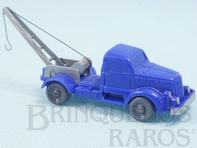 Brinquedo antigo Caminhão guincho Henschel Janelas Sólidas Década de 1950