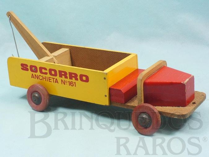Brinquedo antigo Caminhão Guincho Socorro Anchieta 161 com 27,00 cm de comprimento Ano 1958