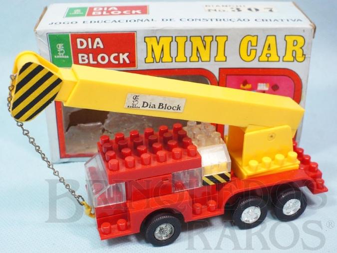 Brinquedo antigo Caminhão Guindaste Mini Car Dia Block Serie Brazilian Kawada Década de 1980