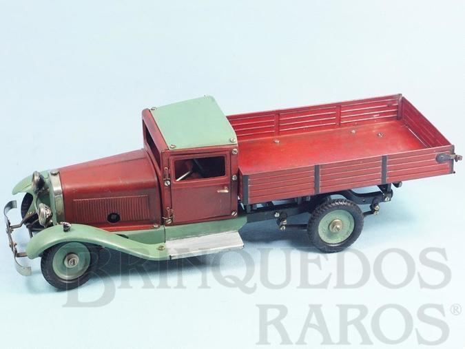 Brinquedo antigo Caminhão Lastwagen Auto-Baukasten com 32,00 cm de comprimento Ano 1947