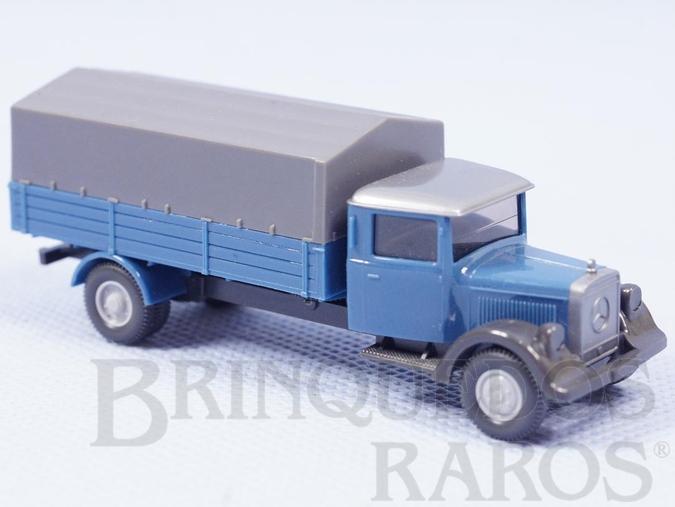 Brinquedo antigo Caminhão Mercedes Benz 1939 carga seca Década de 1980
