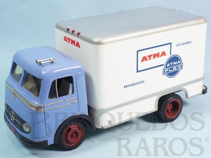 Brinquedo antigo Caminhão Mercedes Benz 321 com carroceria Baú Atma Brinquedos 25,00 cm de comprimento Década de 1960