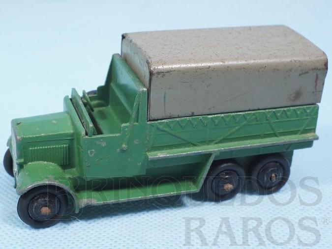 Brinquedo antigo Caminhão Militar Six Wheel Wagon verde Ano 1946 a 1948