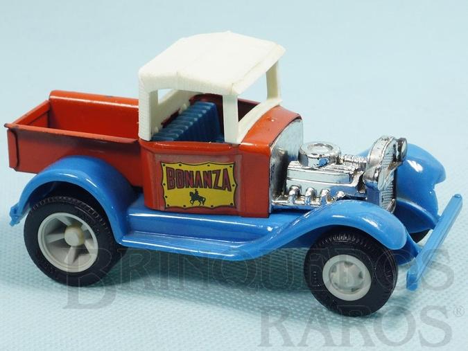 Brinquedo antigo Caminhonete Hot Rod Bonanza com 11,50 cm de comprimento Carroceria de aço Paralamas de plástico Década de 1970