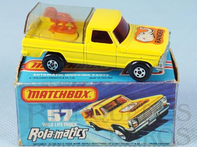 Brinquedo antigo Caminhonete Wild Life Truck Rola-Matics