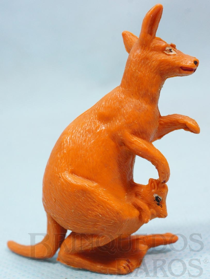 Brinquedo antigo Canguru com Filhote Série Zoológico Década de 1960