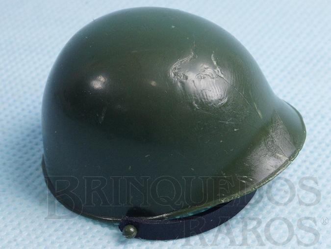 Brinquedo antigo Capacete de Soldado Verde Escuro Edição 1977 a 1980