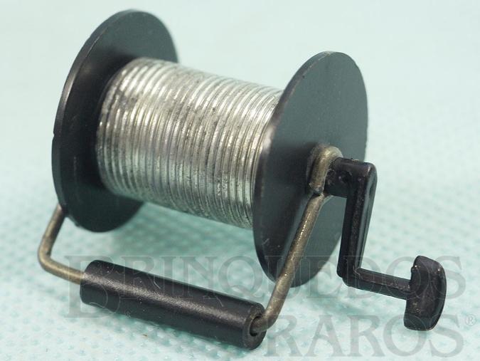 Brinquedo antigo Carretel de Comunicação Aventura Mochila de Campanha Ano 1978