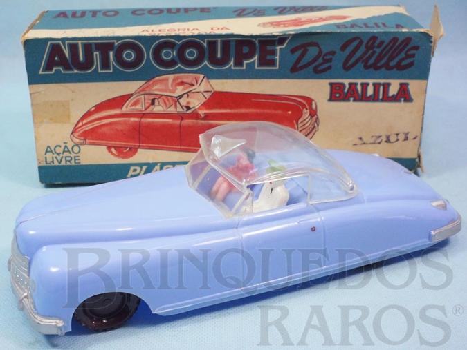 Brinquedo antigo Carro Auto Coupé de Ville com 25,00 cm de comprimento Teto de plástico transparente Década de 1960