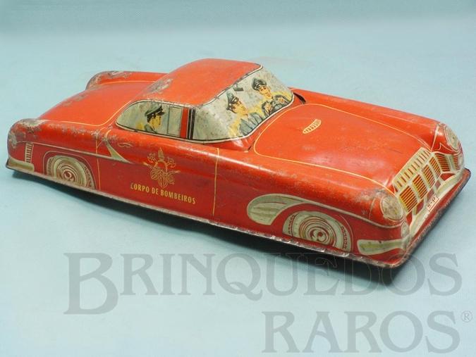 Brinquedo antigo Carro Corpo de Bombeiros com 33,00 cm de comprimento Década de 1960