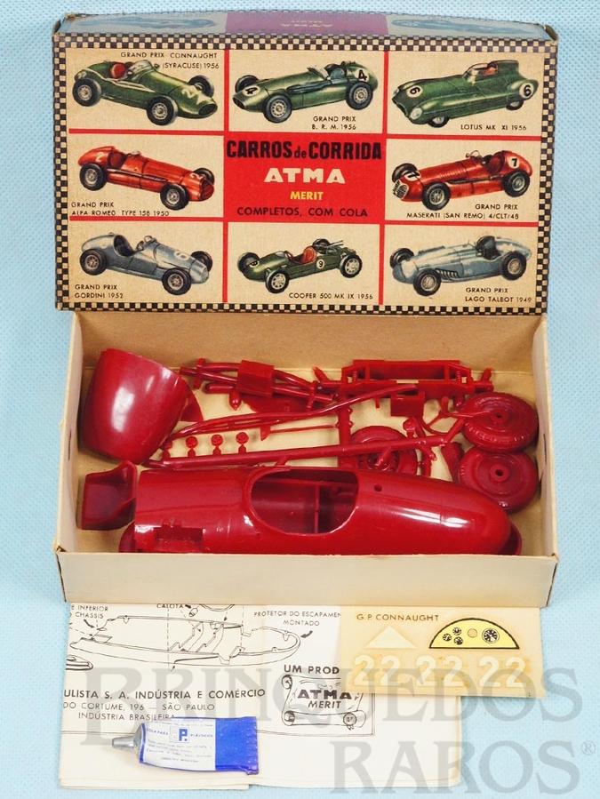 Brinquedo antigo Carro de corrida Connaught com 17,00 cm de comprimento Década de 1960
