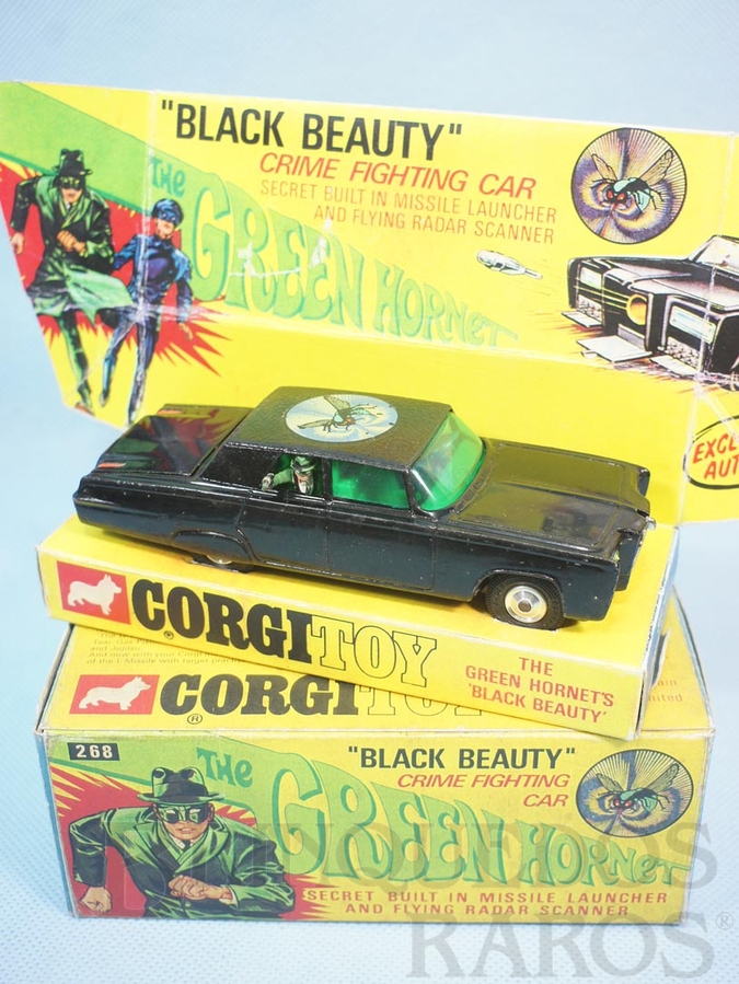 Brinquedo antigo Carro do Besouro Verde Green Hornet Black Beauty completo Ano 1968