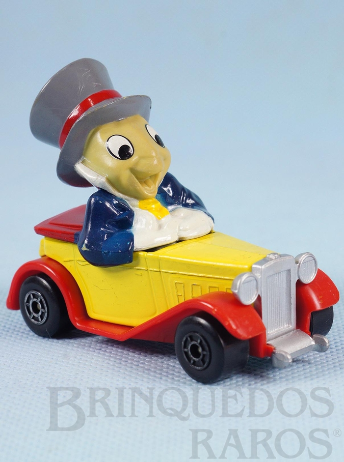 Brinquedo antigo Carro do Grilo Falante Jiminy Cricket Old Timer Walt Disney Series