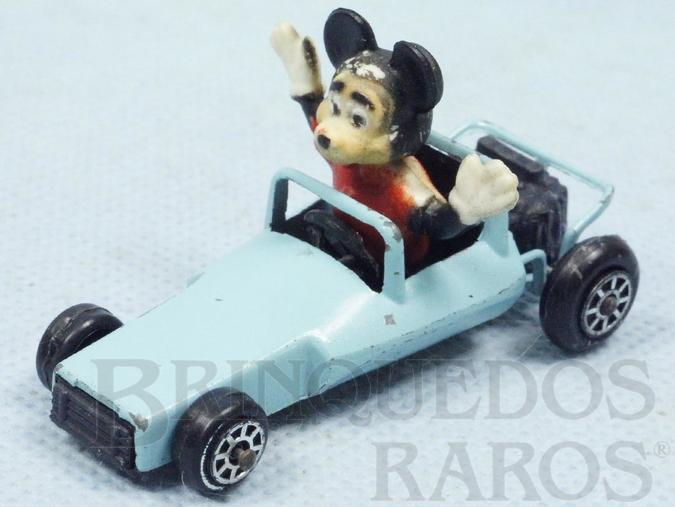 Brinquedo antigo Carro do Mickey com 6,5 cm de comprimento Década de 1970