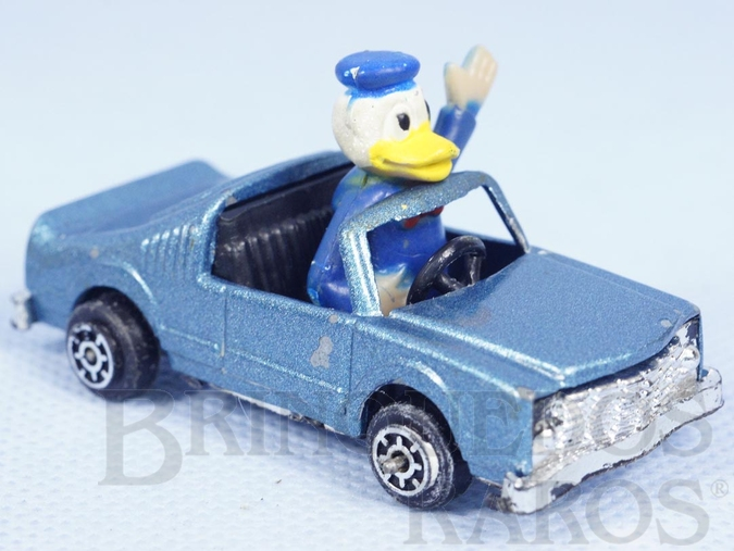 Brinquedo antigo Carro do Pato Donald com 6,5 cm de comprimento Década de 1970