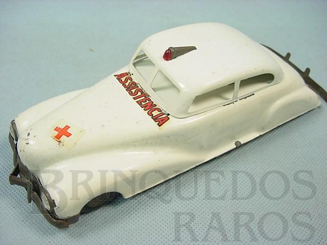 Brinquedo antigo Carro Sedan Assistência com 21,00 cm de comprimento Década de 1940