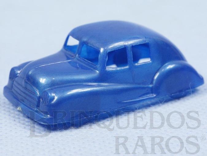 Brinquedo antigo Carro Sedan com 5,00 cm de comprimento Plástico Metalizado Década de 1950