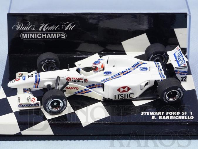 Brinquedo antigo Carro Sterwart Ford SF1 pilotado por Rubens Barrichello Versão GP Canadá Ano 1997