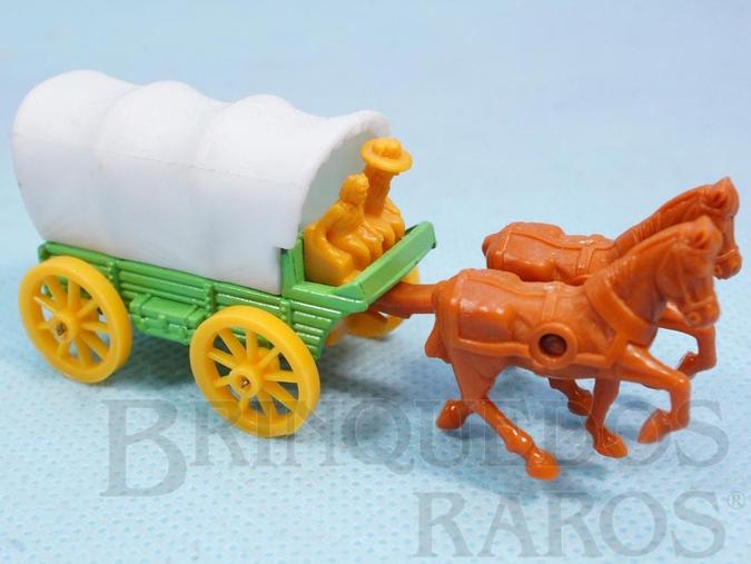 Brinquedo antigo Carroção Covered Wagon Série Wild West Brazilian Corgi Jr Kiko Década de 1980