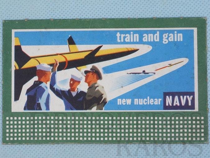 Brinquedo antigo Cartaz 310 Bilboard Plates New Nuclear Navy Ano 1950 a 1968