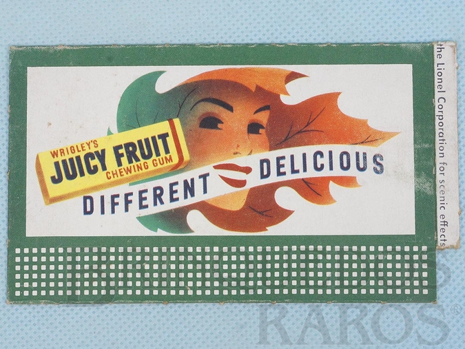 Brinquedo antigo Cartaz 310 Bilboard Plates Wrigleis Chewing Gum Ano 1950 a 1968
