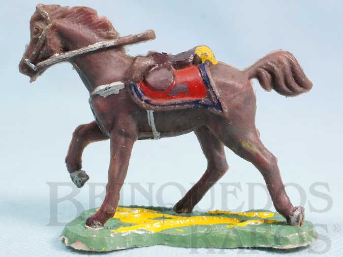 Brinquedo antigo Cavalo cinza Batalha do Tuiutí Década de 1960