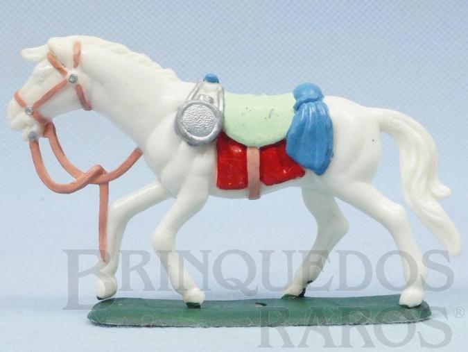Brinquedo antigo Cavalo de Cowboy branco Ano 1986