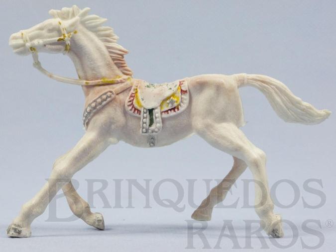 Brinquedo antigo Cavalo de Cowboy branco malhado